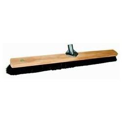 Zaalbezem hout plat gem. haar 100cm met klem