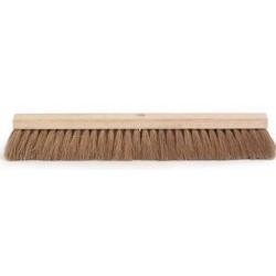 Zaalbezem hout ongelakt plat