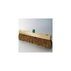 Zaalbezem hout kokos 50cm met klem