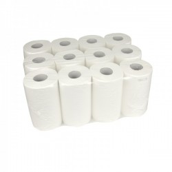 Handdoekrol Mini Centerfeed Cellulose 1-laags 20cm 12x120m