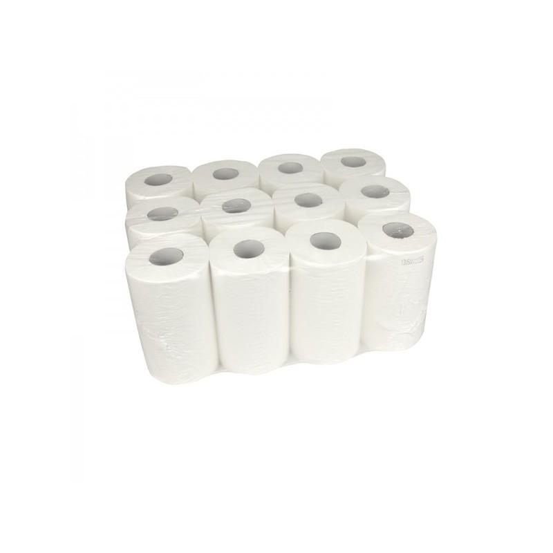Handdoekrol Mini Centerfeed Cellulose 1-laags 20cm 12x120m