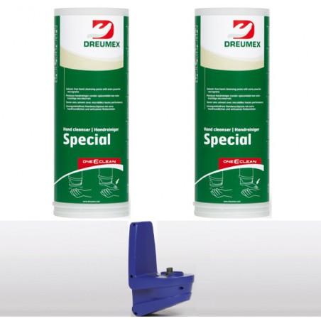 Dreumex Special starterpakket One2clean 2 x 2,8kg + Automatische dispenser