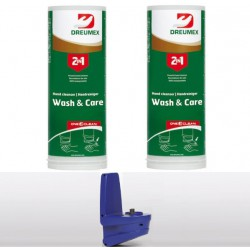 Dreumex Wash & Care starterpakket One2clean 2x3L + Automatische dispenser